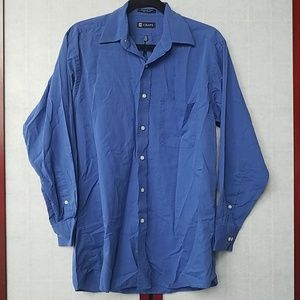 Chaps Blue dress shirt. Size M 15-15 1/2, 32/33.